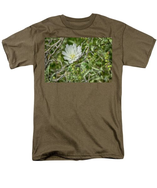Men's T-Shirt  (Regular Fit) featuring the photograph Desert Chicory   Rafinesquia Neomexicana by Anne Rodkin