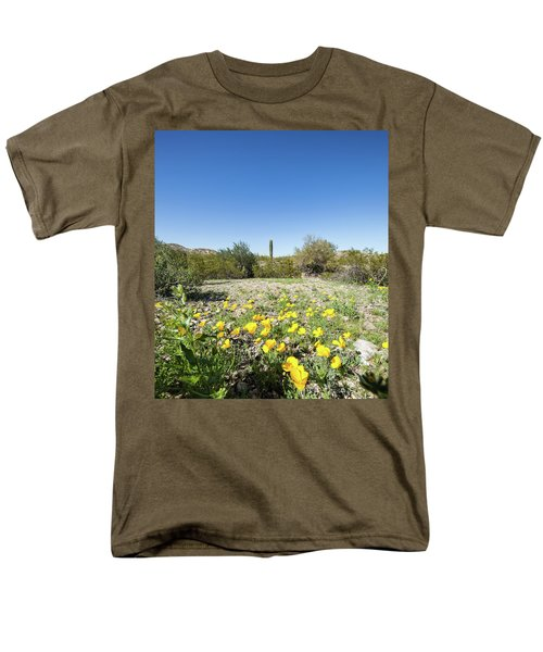 Desert Flowers And Cactus Men's T-Shirt  (Regular Fit) by Ed Cilley