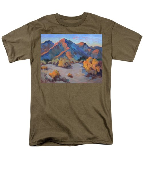 Men's T-Shirt  (Regular Fit) featuring the painting Desert Light by Diane McClary