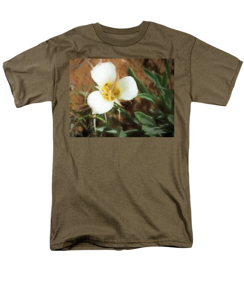 Desert Mariposa Lily Men's T-Shirt  (Regular Fit) by Penny Lisowski