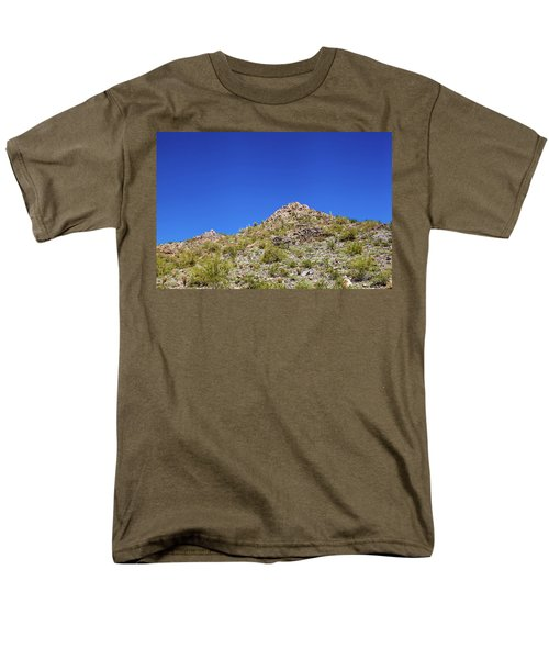 Desert Mountaintop Men's T-Shirt  (Regular Fit) by Ed Cilley
