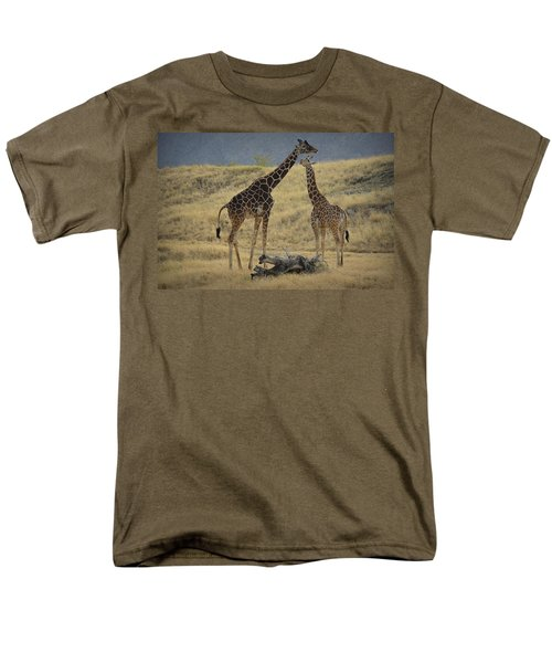 Men's T-Shirt  (Regular Fit) featuring the photograph Desert Palm Giraffe by Guy Hoffman