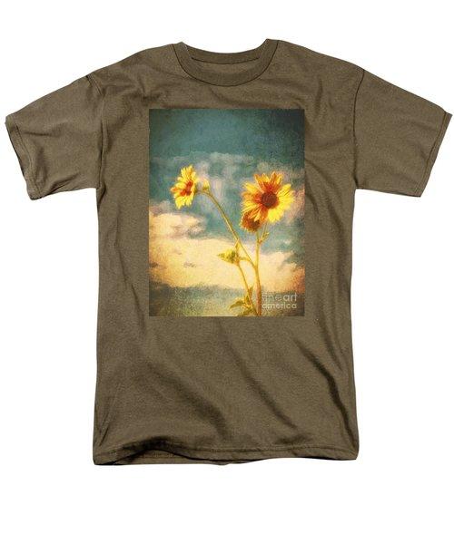 Men's T-Shirt  (Regular Fit) featuring the photograph Desert Sunflower  ... by Chuck Caramella