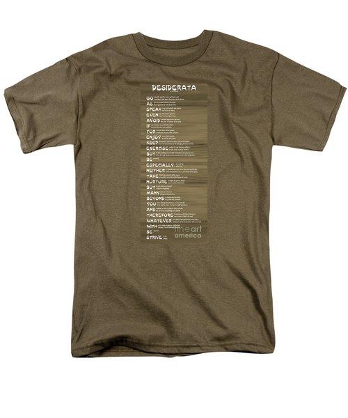 Desiderata 17 Men's T-Shirt  (Regular Fit) by Wendy Wilton