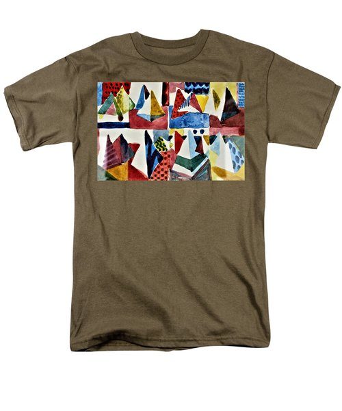 Men's T-Shirt  (Regular Fit) featuring the painting Designs For Pyramids by Mindy Newman