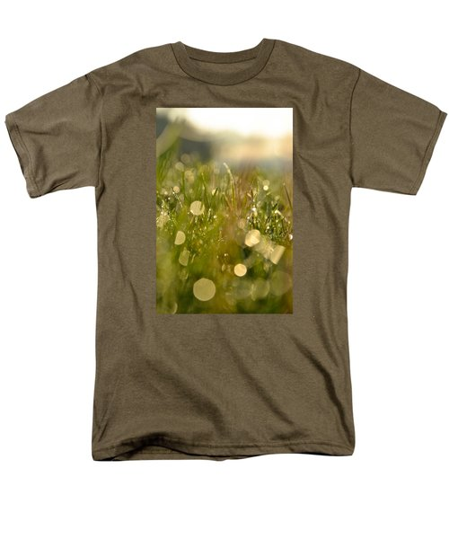 Men's T-Shirt  (Regular Fit) featuring the photograph Dew Droplets by Nikki McInnes