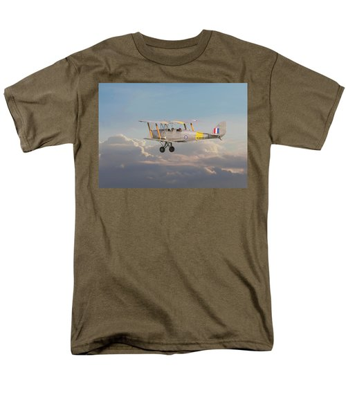 Men's T-Shirt  (Regular Fit) featuring the digital art Dh Tiger Moth - 'first Steps' by Pat Speirs