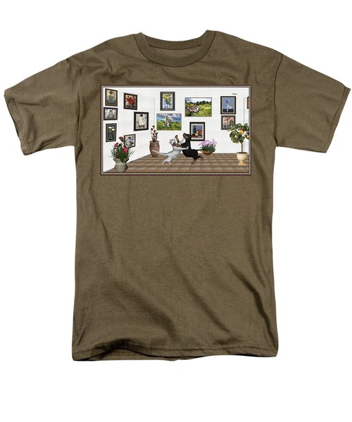Men's T-Shirt  (Regular Fit) featuring the mixed media Digital Exhibition _ Dancing Lovers by Pemaro