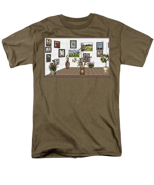 Men's T-Shirt  (Regular Fit) featuring the mixed media digital exhibition _ Modern Statue of Modern statue of branches by Pemaro