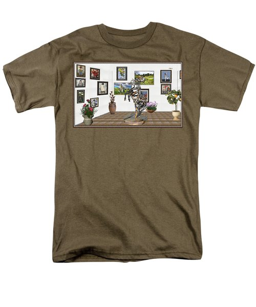 Men's T-Shirt  (Regular Fit) featuring the mixed media Digital Exhibition _ Statue Of Branches by Pemaro