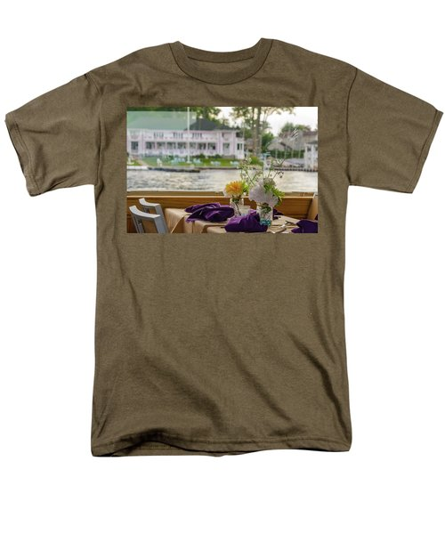 Men's T-Shirt  (Regular Fit) featuring the photograph Dining Aboard The Miss Lotta by Maureen E Ritter