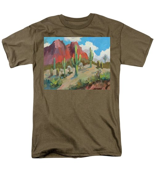 Men's T-Shirt  (Regular Fit) featuring the painting Dinosaur Mountain by Diane McClary