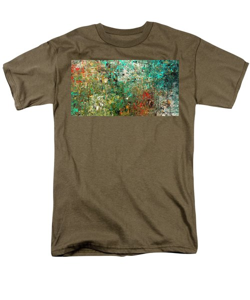 Men's T-Shirt  (Regular Fit) featuring the painting Discovery - Abstract Art by Carmen Guedez