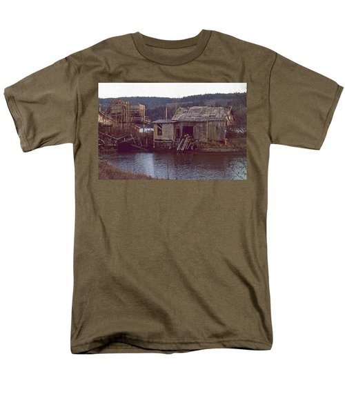 Men's T-Shirt  (Regular Fit) featuring the photograph Discovery Bay Mill by Laurie Stewart