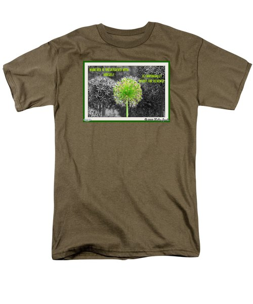Men's T-Shirt  (Regular Fit) featuring the digital art Dissatisfied With Himself by Holley Jacobs