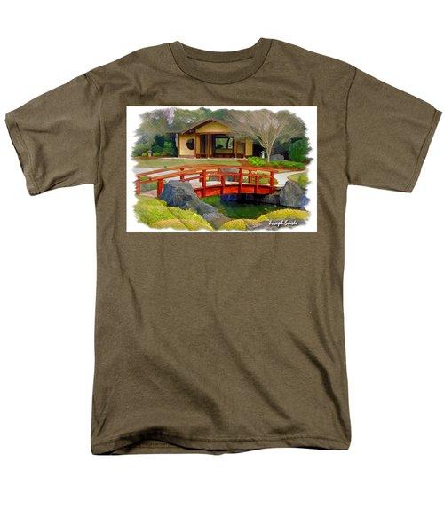 Do-00006 Cypress Bridge And Tea House Men's T-Shirt  (Regular Fit) by Digital Oil