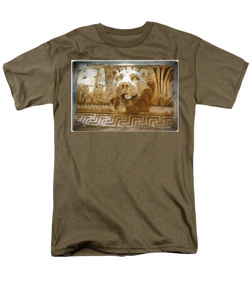 Do-00313 Lion Water Feature Men's T-Shirt  (Regular Fit) by Digital Oil