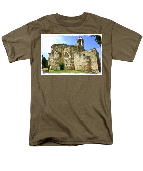 Do-00344 Church Of St John Marcus In Byblos Men's T-Shirt  (Regular Fit) by Digital Oil