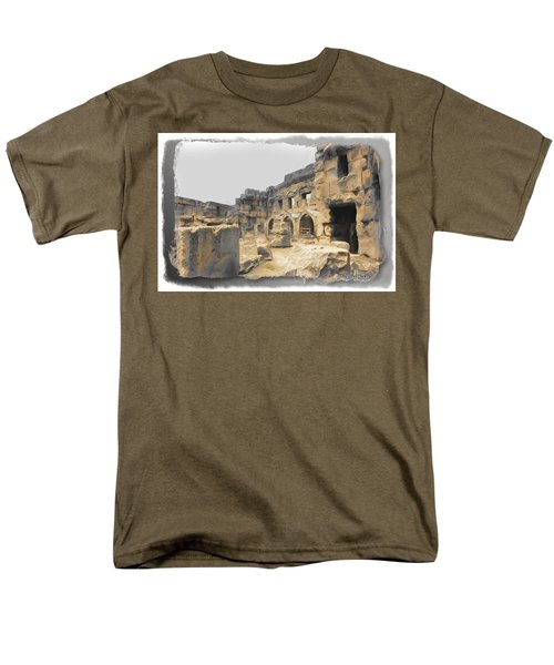 Men's T-Shirt  (Regular Fit) featuring the photograph Do-00452 Inside The Ruins by Digital Oil