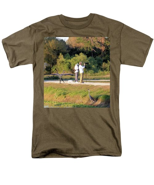 Men's T-Shirt  (Regular Fit) featuring the photograph Do You See Any Birds? by Rosalie Scanlon