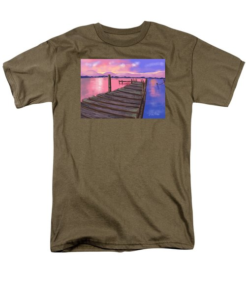 Men's T-Shirt  (Regular Fit) featuring the digital art Dock At Sunset by Diana Riukas