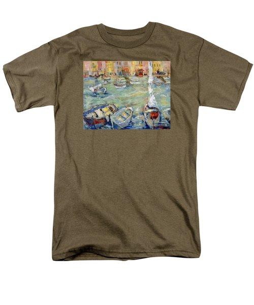 Docking In Cassis Men's T-Shirt  (Regular Fit) by Sharon Furner