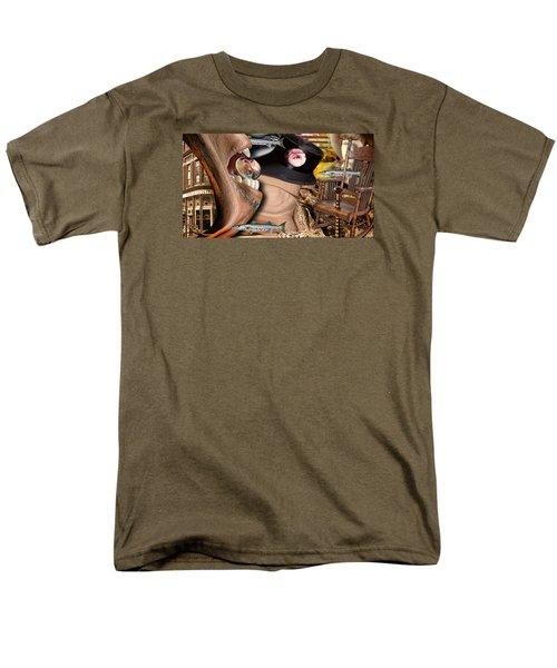 Does Your Dog Bite Men's T-Shirt  (Regular Fit) by Steve Sperry