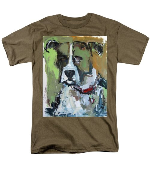 Men's T-Shirt  (Regular Fit) featuring the painting Dog Portrait by Robert Joyner