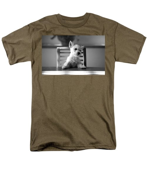 Dog Sitting On The Table Men's T-Shirt  (Regular Fit) by Sumit Mehndiratta