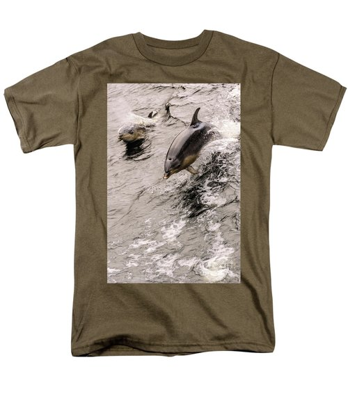 Dolphins Men's T-Shirt  (Regular Fit) by Werner Padarin