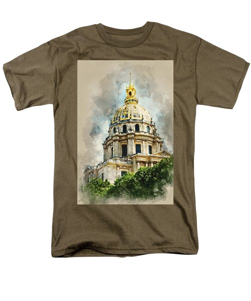 Men's T-Shirt  (Regular Fit) featuring the digital art Dome Des Invalides by Kai Saarto