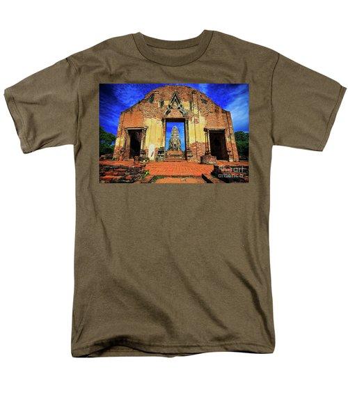 Doorway To Wat Ratburana In Ayutthaya, Thailand Men's T-Shirt  (Regular Fit) by Sam Antonio Photography