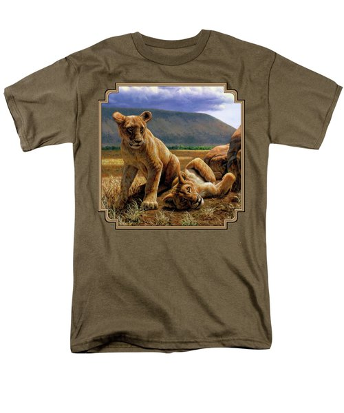 Double Trouble Men's T-Shirt  (Regular Fit) by Crista Forest