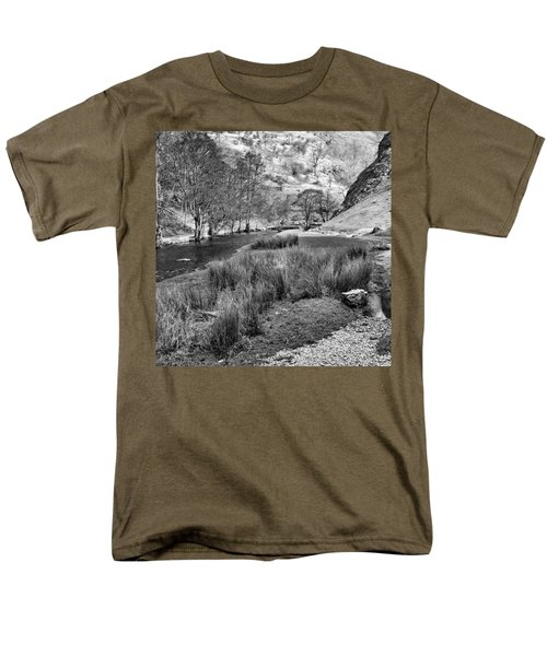 Dovedale, Peak District Uk Men's T-Shirt  (Regular Fit) by John Edwards