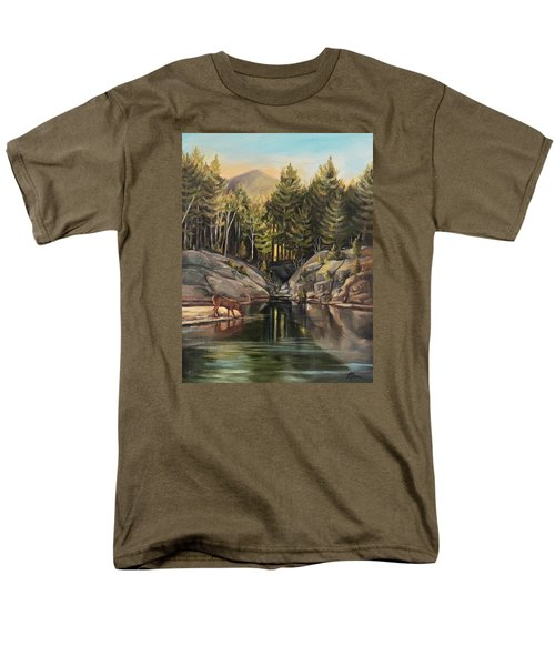Down By The Pemigewasset River Men's T-Shirt  (Regular Fit) by Nancy Griswold