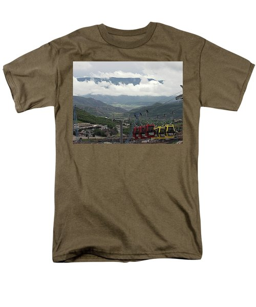 Down The Valley At Snowmass Men's T-Shirt  (Regular Fit) by Jerry Battle