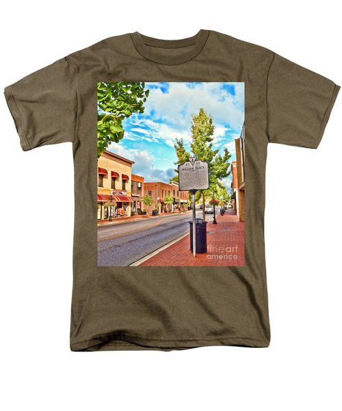 Downtown Blacksburg With Historical Marker Men's T-Shirt  (Regular Fit) by Kerri Farley