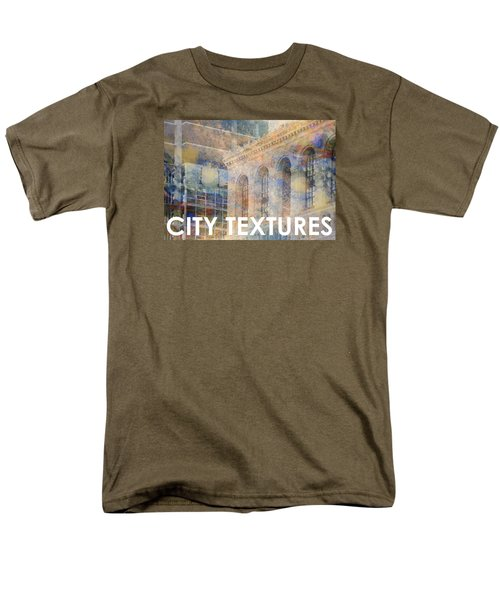 Downtown City Textures Men's T-Shirt  (Regular Fit) by John Fish