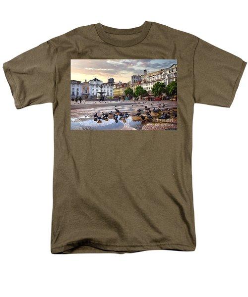 Downtown Lisbon Men's T-Shirt  (Regular Fit) by Carlos Caetano