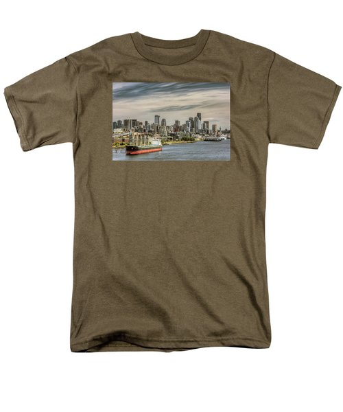 Men's T-Shirt  (Regular Fit) featuring the photograph Downtown Seattle by Lewis Mann