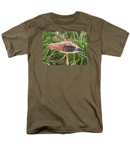 Men's T-Shirt  (Regular Fit) featuring the sculpture Downward Sanderling by Kevin F Heuman