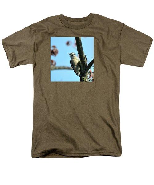 Downy Woodpecker Men's T-Shirt  (Regular Fit) by Kathy Eickenberg