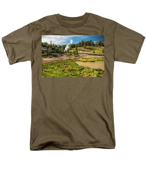 Dragon Geyser At Yellowstone Men's T-Shirt  (Regular Fit) by Hyuntae Kim