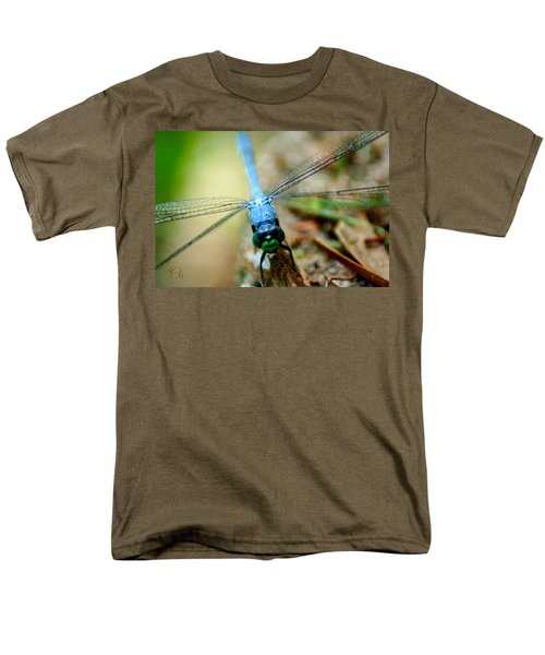 Dragonfly Closeup Men's T-Shirt  (Regular Fit) by Shelley Overton