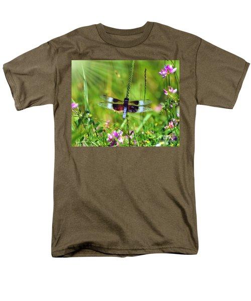 Dragonfly Delight Men's T-Shirt  (Regular Fit) by Kerri Farley