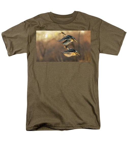 Men's T-Shirt  (Regular Fit) featuring the photograph Drake And Hen Pintail  by Kelly Marquardt