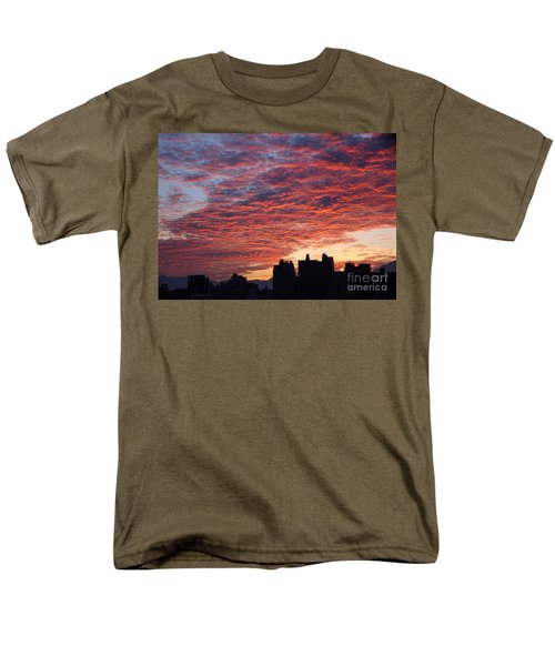 Men's T-Shirt  (Regular Fit) featuring the photograph Dramatic City Sunrise by Yali Shi