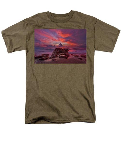Dramatic Sunrise Over Coral Cove Beach In Jupiter Florida Men's T-Shirt  (Regular Fit) by Justin Kelefas