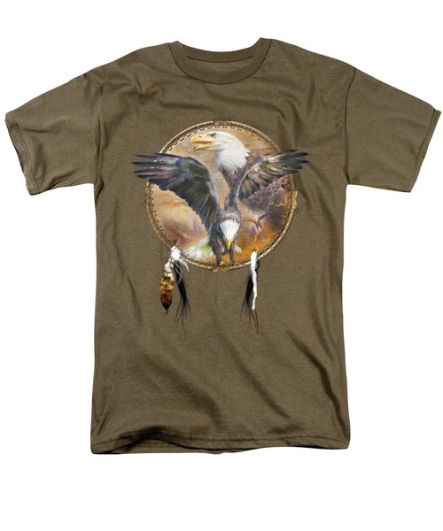 Men's T-Shirt  (Regular Fit) featuring the mixed media Dream Catcher - Spirit Eagle 3 by Carol Cavalaris