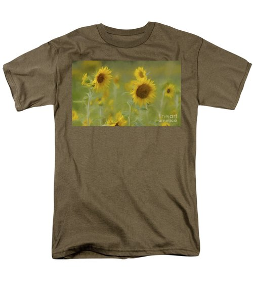 Men's T-Shirt  (Regular Fit) featuring the photograph Dreaming Of Sunflowers by Benanne Stiens